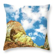 Colorful Rocks Throw Pillow