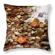 Colorful Rocks With Waterfall Throw Pillow
