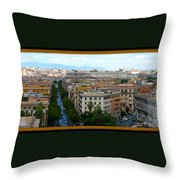 Colorful Rome Cityscape Throw Pillow