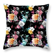 Colorful Roses Throw Pillow