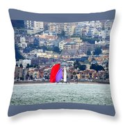 Colorful Sails Throw Pillow