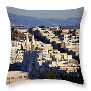 Colorful San Francisco Throw Pillow