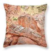 Colorful Sandstone In Wash 3 - Valley Of Fire Throw Pillow