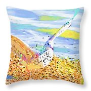 Colorful Seagull Throw Pillow