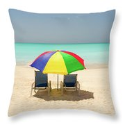 Colorful Shade Throw Pillow