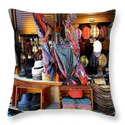 Colorful Shopping Throw Pillow