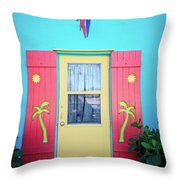 Colorful Signs Of The Tropics Throw Pillow
