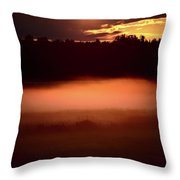 Colorful Skies Nearing Sunset Throw Pillow