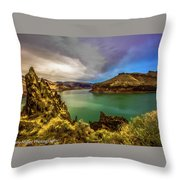 Colorful Skies Over Lake Owyhee Throw Pillow