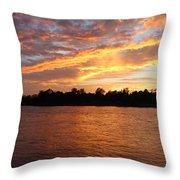 Colorful Sky At Sunset Throw Pillow