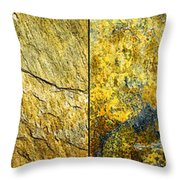 Colorful Slate Tile Abstract Composite H2 Throw Pillow