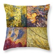 Colorful Slate Tile Abstract Composite Sq1 Throw Pillow