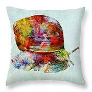 Colorful Snail Art  Throw Pillow