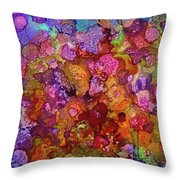 Colorful Spring Garden Throw Pillow