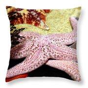 Colorful Starfish Throw Pillow