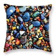 Colorful Stones I Throw Pillow