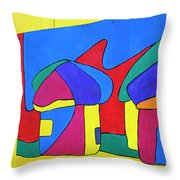 Colorful Street Art Throw Pillow