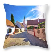 Colorful Street Of Baroque Town Varazdin View Throw Pillow