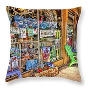 Colorful Streets Of The City Of Stuart Throw Pillow