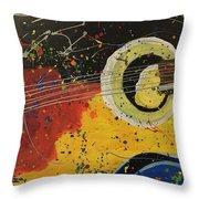 Colorful Strum Throw Pillow