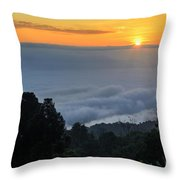 Colorful Sunrise Above The Clouds Throw Pillow