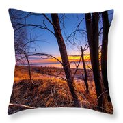 Colorful Sunrise Throw Pillow