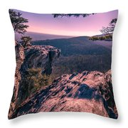 Colorful Sunset At Hanging Rock Throw Pillow