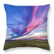 Colorful Sunset At The Reesor Ranch Throw Pillow