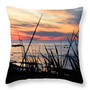 Colorful Sunset On Lake Huron Throw Pillow by Danielle Allard