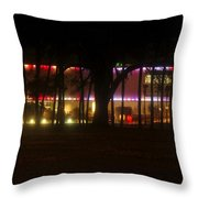 Colorful Tampa Bay Night Throw Pillow
