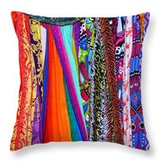 Colorful Tapestries Throw Pillow