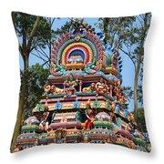 Colorful Temple, Valparai Throw Pillow