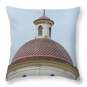 Colorful Tiles On A Church Dome Throw Pillow