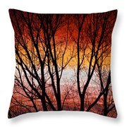 Colorful Tree Branches Throw Pillow