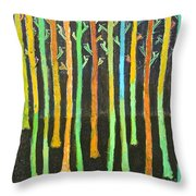 Colorful Trees Throw Pillow