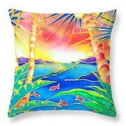 Colorful Tropics 12 Throw Pillow