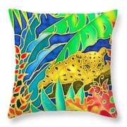 Colorful Tropics 4 Throw Pillow