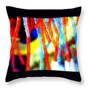 Colorful Tubes Throw Pillow