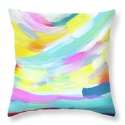 Colorful Uprising 4 - Abstract Art By Linda Woods Throw Pillow