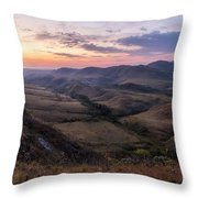 Colorful Valley Throw Pillow