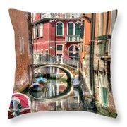 Colorful Venice  Throw Pillow