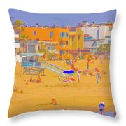 Colorful Venice Beach Throw Pillow