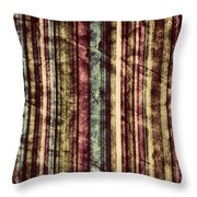 Colorful Vertical Stripes Background In Vintage Retro Style  Throw Pillow