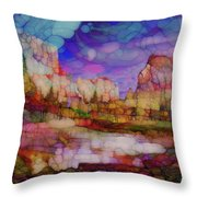 Colorful Vista Throw Pillow