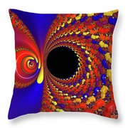 Colorful Vortex Throw Pillow