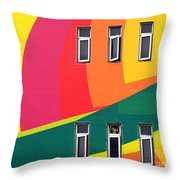 Colorful Wall Throw Pillow