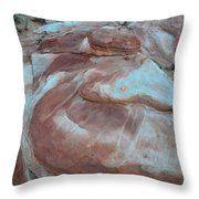 Colorful Wash 2 Of Valley Of Fire Throw Pillow