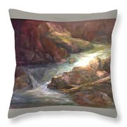 Colorful Water Flow Throw Pillow