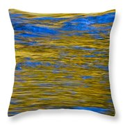 Colorful Water Surface Throw Pillow
