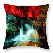 Colorful Waterfall Throw Pillow
